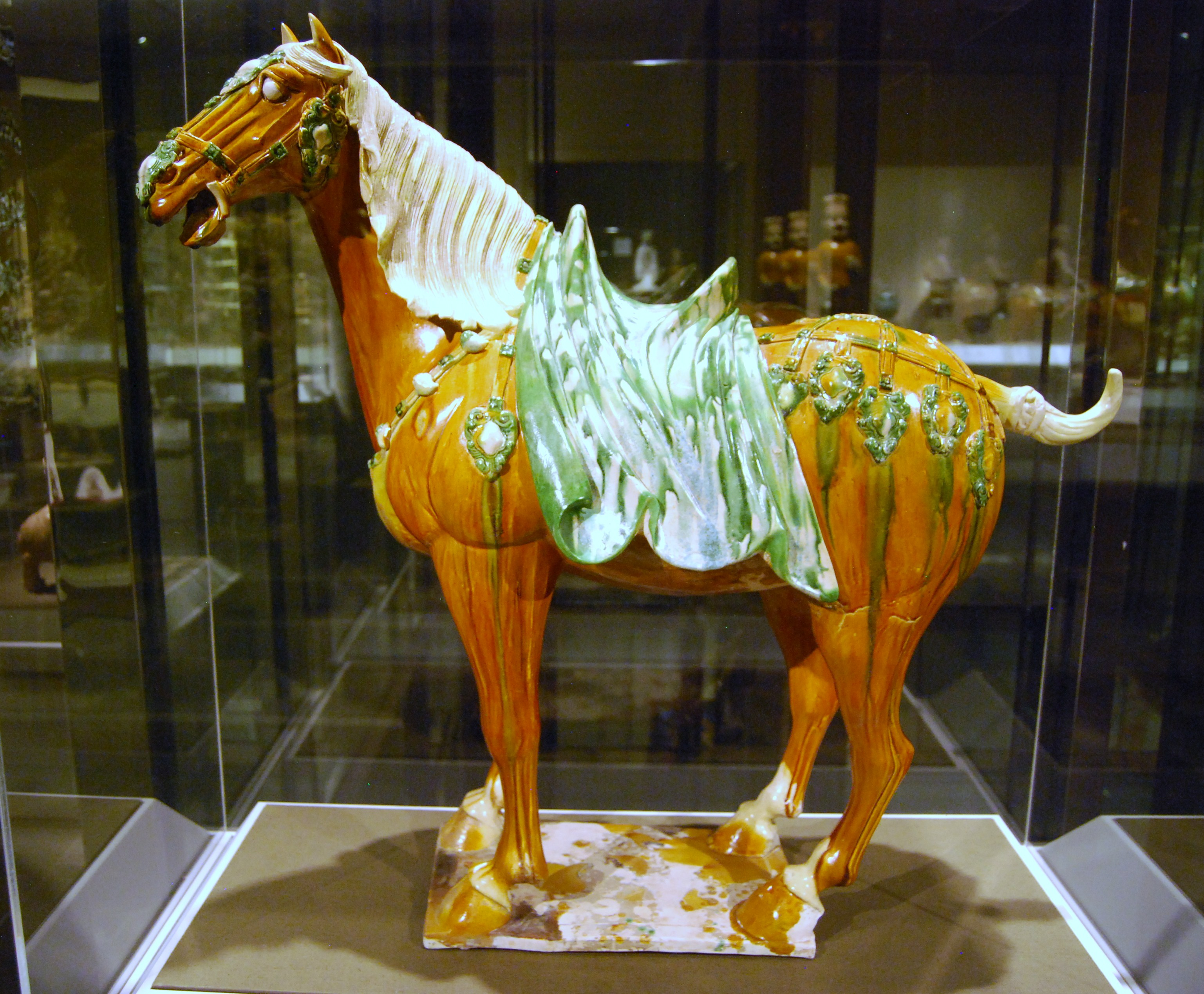 Texas from tang to tomb chinese horses in art and for Wine painting san antonio