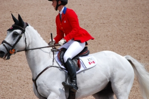 CAN Colleen Loach  placed 8th in tPanAm Eventing