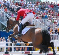 Canadian Eric Lamaze and Coco Bongo