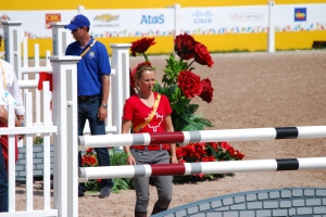 Walking the course at the PanAm Games