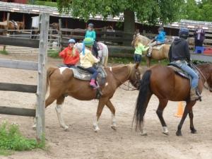 Pre-trail riding lesson