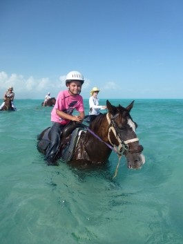 Horseback Riding at Long Bay Beach with Provo Ponies while travelling in Turks and Caicos