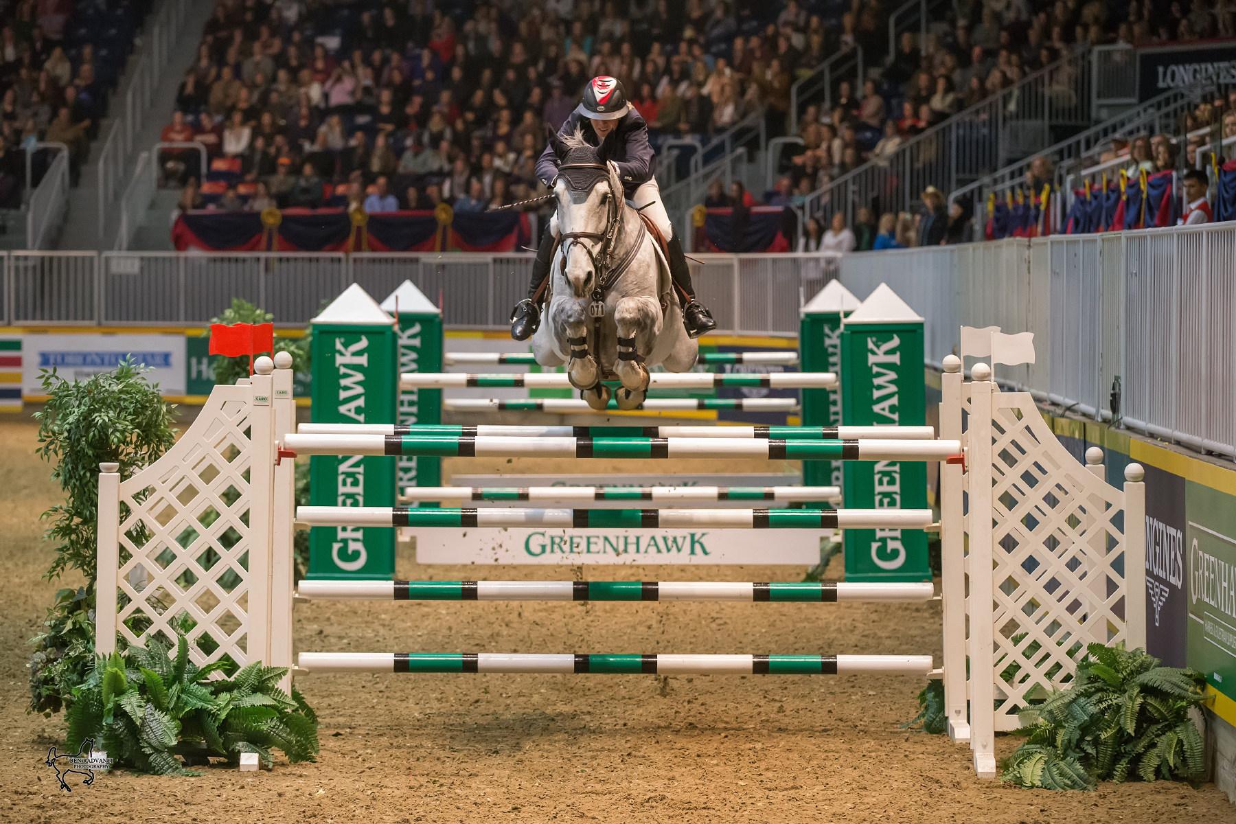 show jumping horse Jill Henselwood