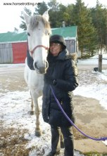 adalusian horse and me