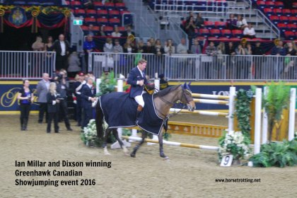 Equestrian Ian Millar at Royal Winter Fair, Toronto