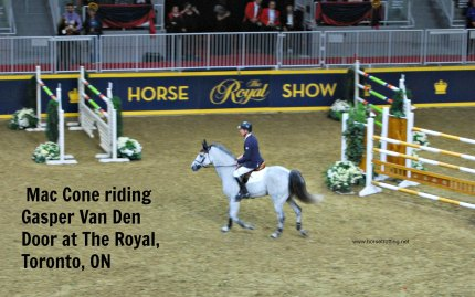 Equestrian Mac Cone at Royal Winter Fair, Toronto