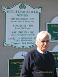 Trainer Bob Baffert at Churchill Downs