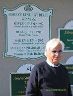 Trainer Bob Baffert at Churchill Downs