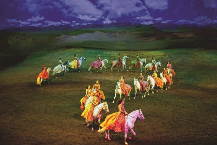 precision riding in Cavalia Odysseo