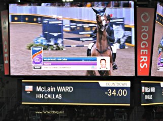 International Accumulator Show Jumping Challenge at The Royal Winter Fair in Toronto, Ontario.