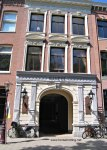 entrance to Hollandsche Manege Riding School in Amsterdam, Holland