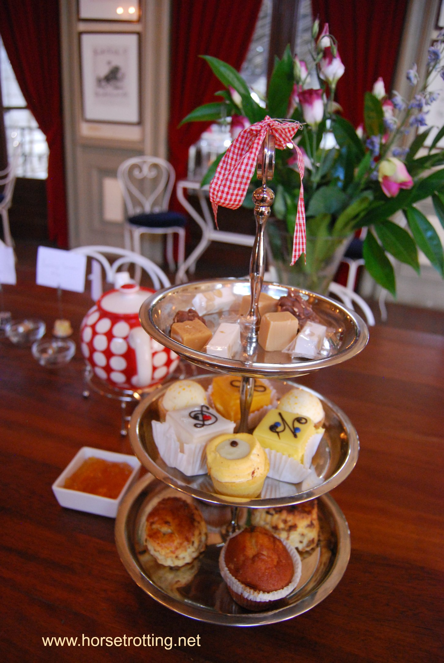 high tea at Hollandsche Manege Riding School in Amsterdam, Holland
