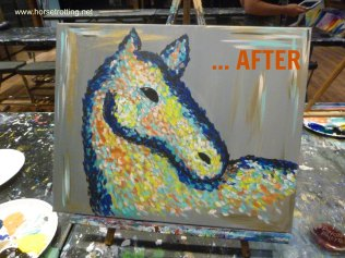 painting of abstract horse