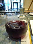 glass of sangria at Pinot's Pallete
