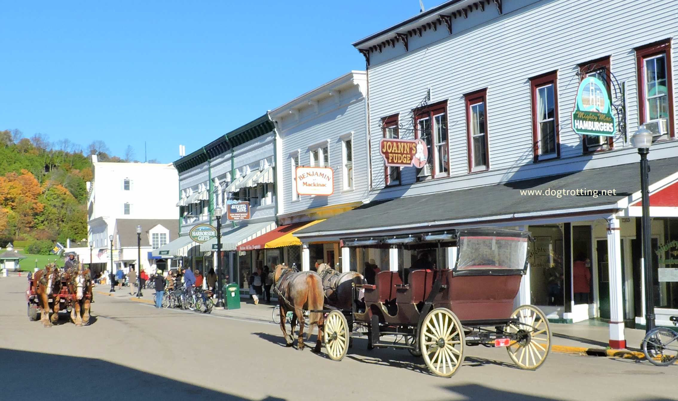 Downtown Mackinac Island, Michigan www.horsetrotting.net